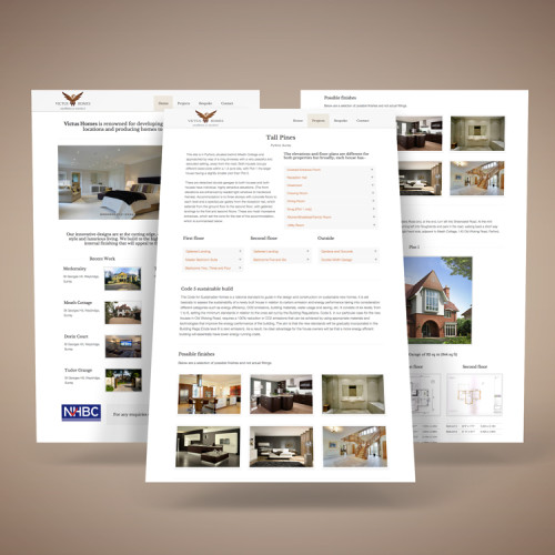 Victus Homes website